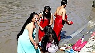 Indian babes outdoor bathing sexy