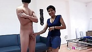 Cleaning lascivious white white wife cannot resist big fabio's wang