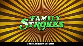 Familystrokes - curvy step daughter revenge fuc...