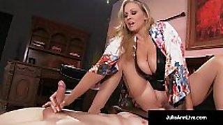 Mega sexy milf julia ann abuses her thrall fellow!