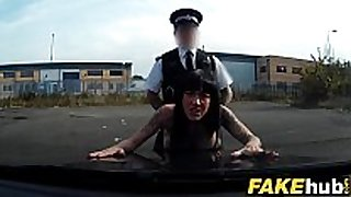 Fake cop hot cyclist with big bra buddies and pleasant butt