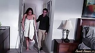 Busty milf fucked by her excited stepson