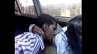 Indian legal age teenager hottie in the car is fed with a...