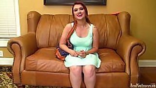 18 year old try-out for porn and masturbates
