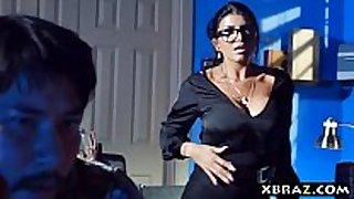 Milf teacher shows a porn episode scene scene in class and fu...