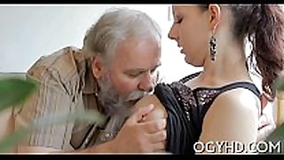 Hot youthful chick drilled by old fellow