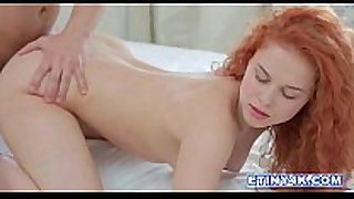 Fiery redhead entice seduces her stud in her