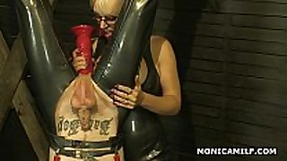 Kinky norwegian monicamilf is pegging the immodest...