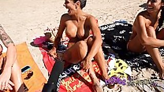 Topless beach interviews with real sexually concupiscent whores ...