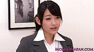 Innocent asian honey licking fashionable aged box