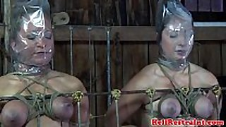 Bdsm serf duet punished in maledoms dungeon