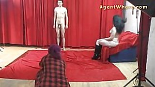 19yo casting fellow receives wild striptease from nast...