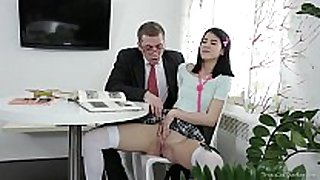Tricky old teacher - jody played with her love tunnel