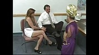 Couple acquires blackmailed by a midget - that chick has t...