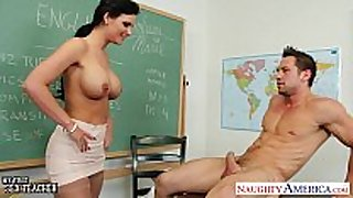 Chesty teacher phoenix marie take jock in class...