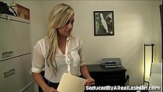 Cute legal age teenager licks moist crack in job interview!