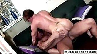 54yo muscled milf sucks hunk penis