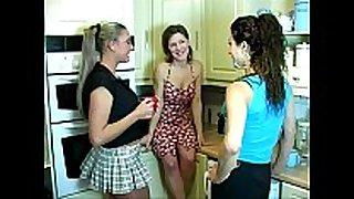 Kitchen pissing gals