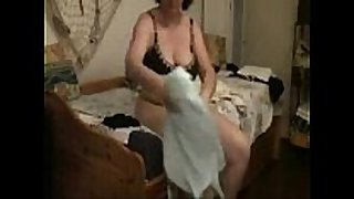 My lustful mum caught masturbating by hidden web camera