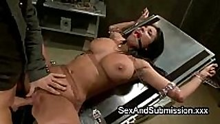 Huge hooters dark brown hair hair gets bondage sex