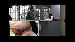 Japanese curtain rear secretly have sex