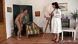 Hot older white Married slut jumps on his shlong