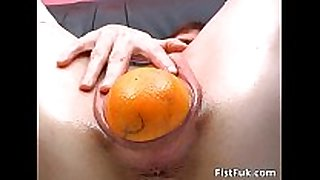 Horny doxy with gaping pussy stuffs