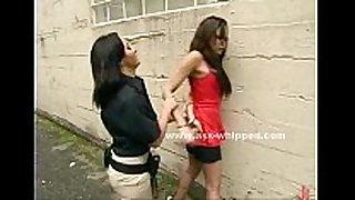 Female ties up an oriental woman