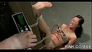 Pretty hot ribald whore white doxy knox suspended, dog play, slavery