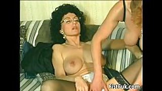 Horny old harlots fingering and fisting