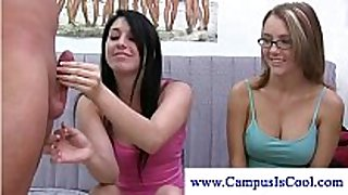 College cuties look for strapon at their dorm