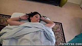 Busty dark brown massage