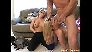 Ffm three-some blondes fucking hardcore
