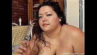 Chubby latin playgirl large boobs