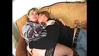 Fat mother drilled hard by young