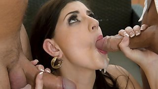 Secretary Miranda Miller plays with her pussy in office, fingering pussy and touching it, then boss fucks her in hardcore sex act and a nice cumshot afterall